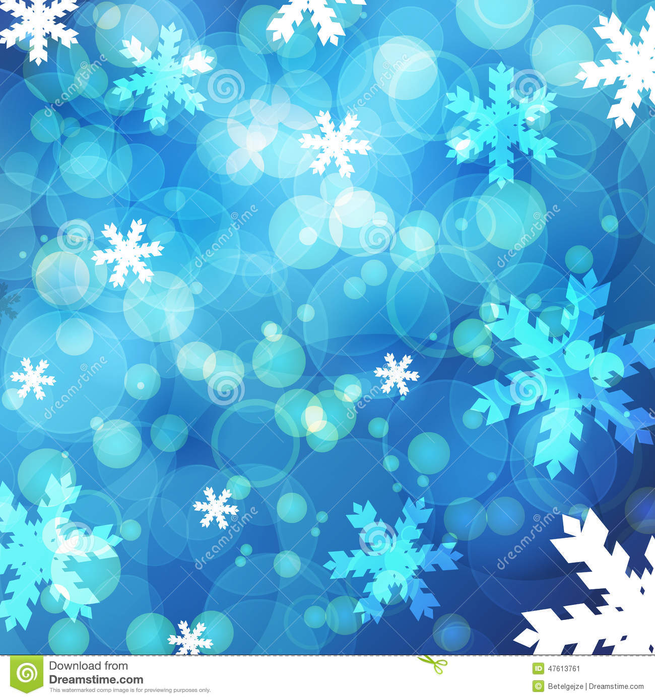 Abstract Winter Background Abstract Bokeh Snow Blurred
