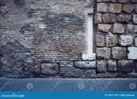 Abstract Brick Wall Column Pavers Stock Image - Image of ...