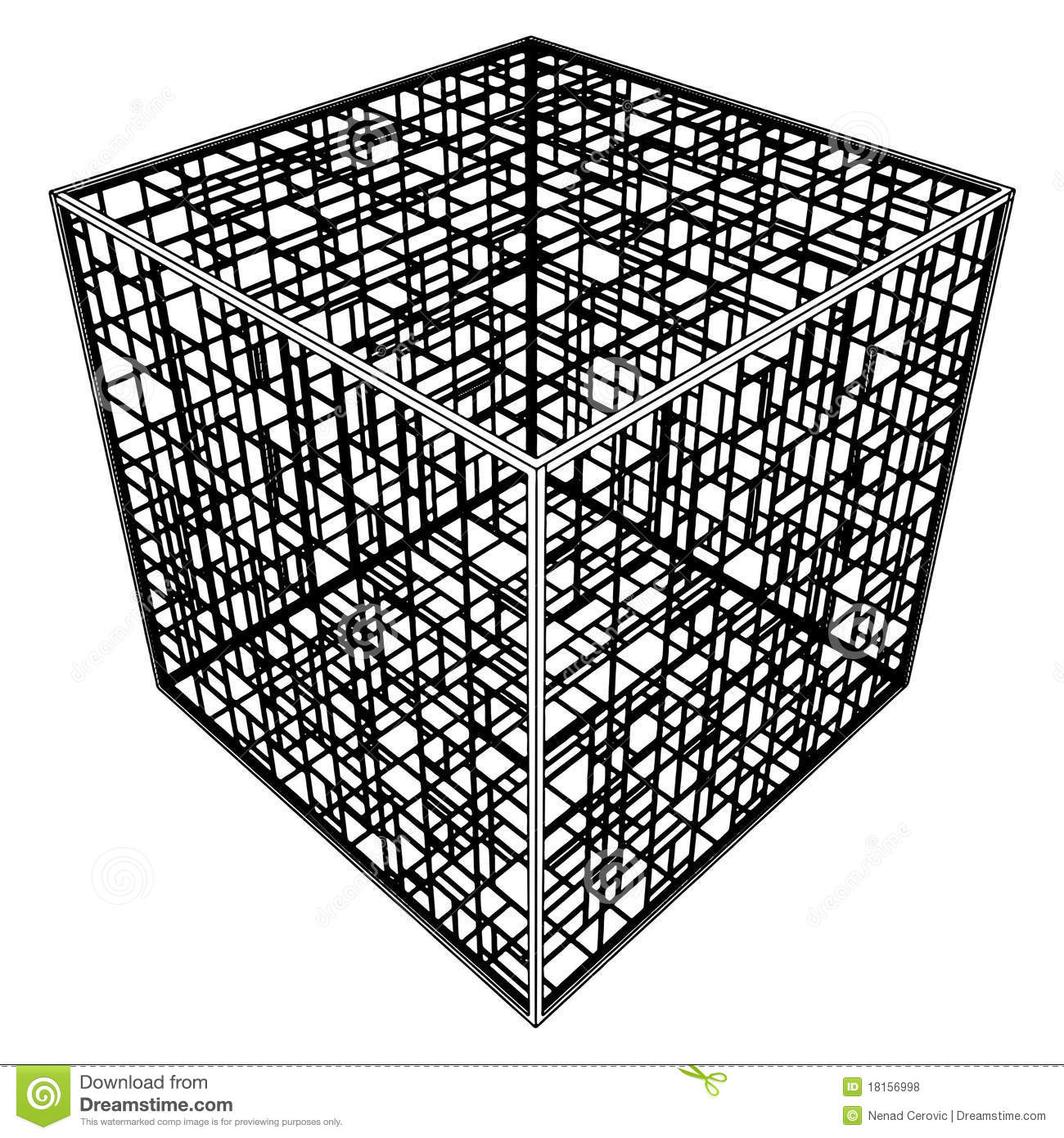 Abstract Cage Vector 14 Royalty Free Stock Photos