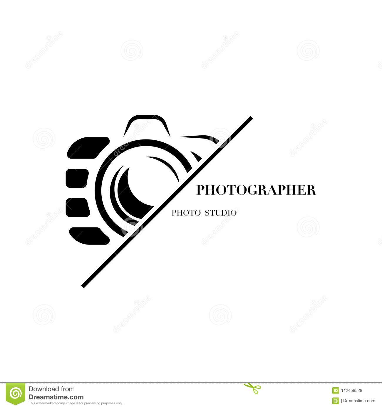 Abstract Camera Logo Vector Design Template For
