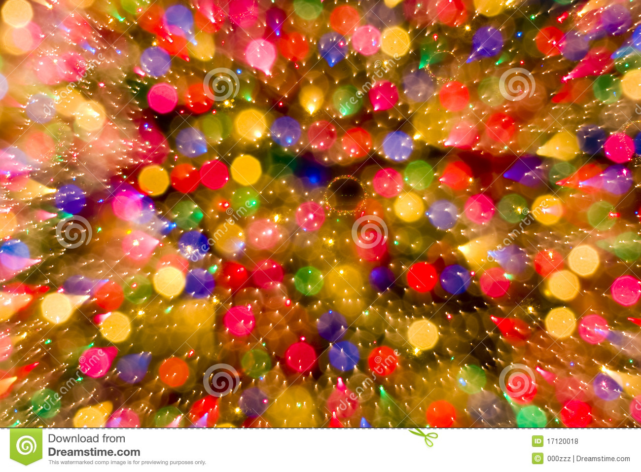 Abstract Christmas Bokeh Lights Color Background Royalty