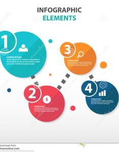 Abstract circle flow chart business infographics elements presentation template flat design vector illustration for web marketing advertising also rh dreamstime