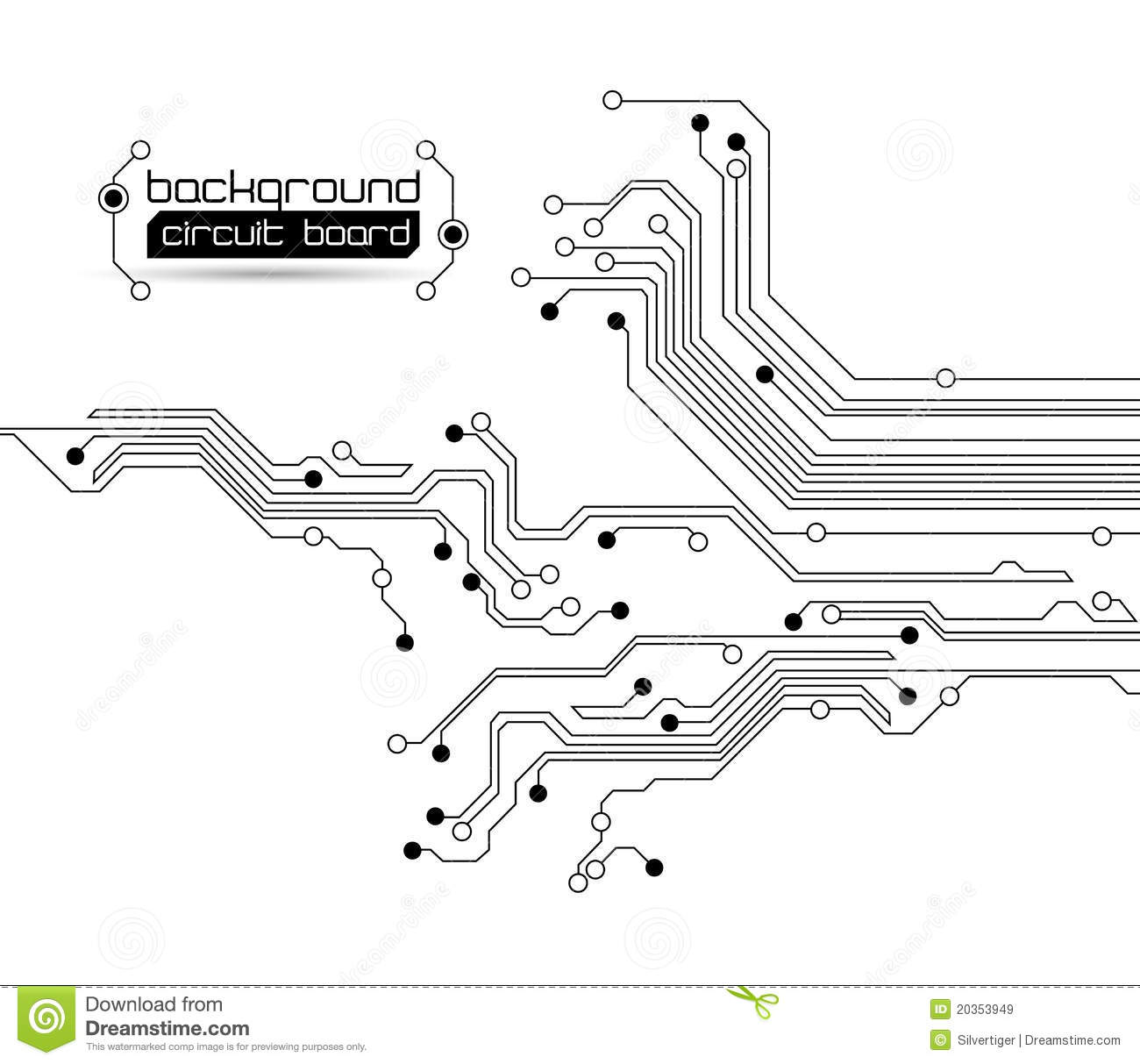 Abstract Circuit Board Background Royalty Free Stock