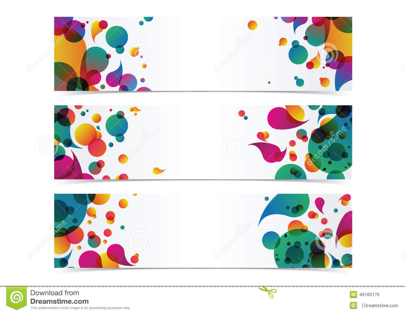abstract colorful banner header