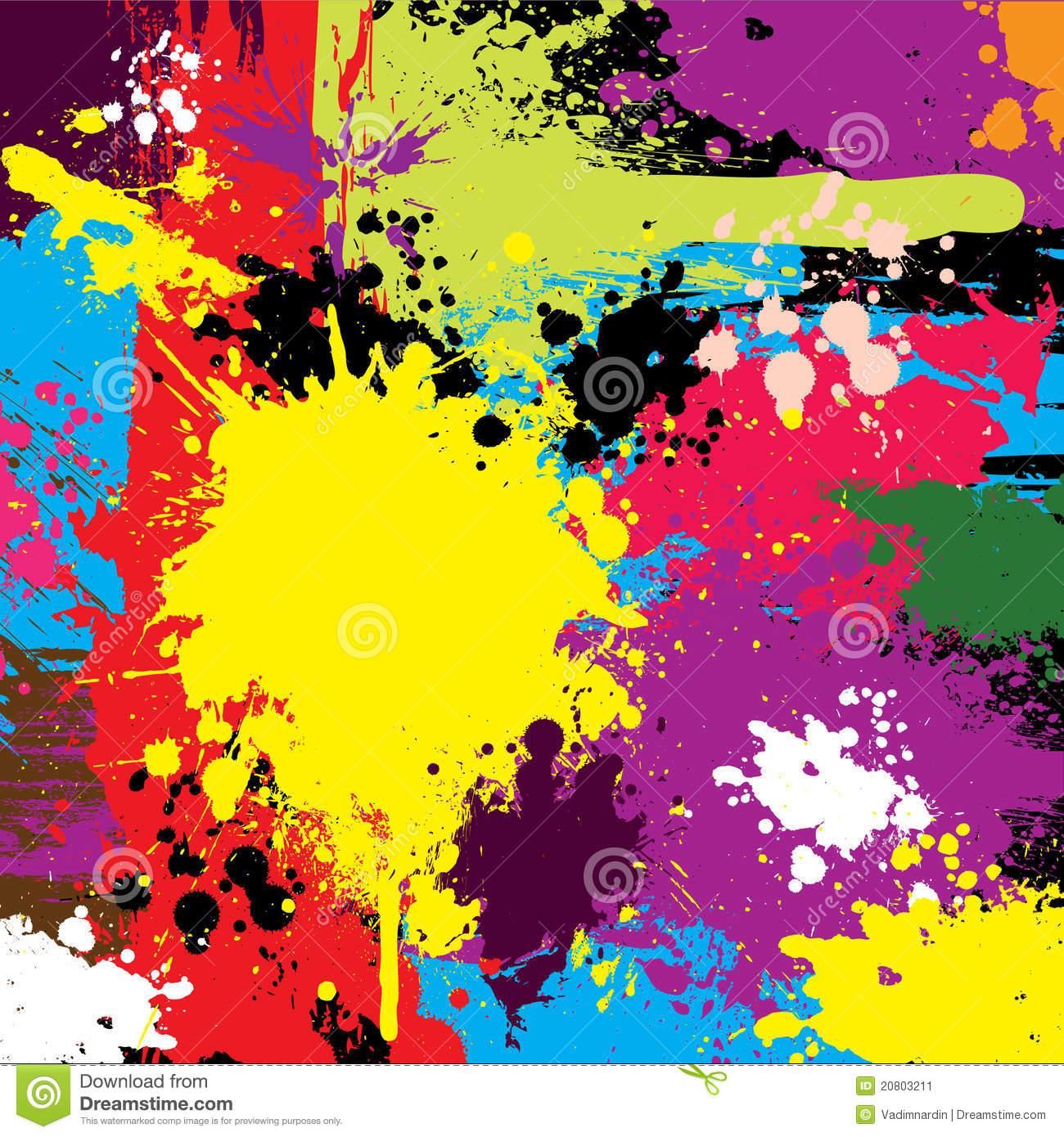Abstract Colorful Grunge Background Vector Stock Image