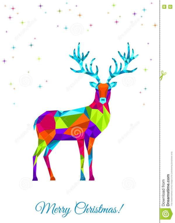 Low Poly Abstract Deer