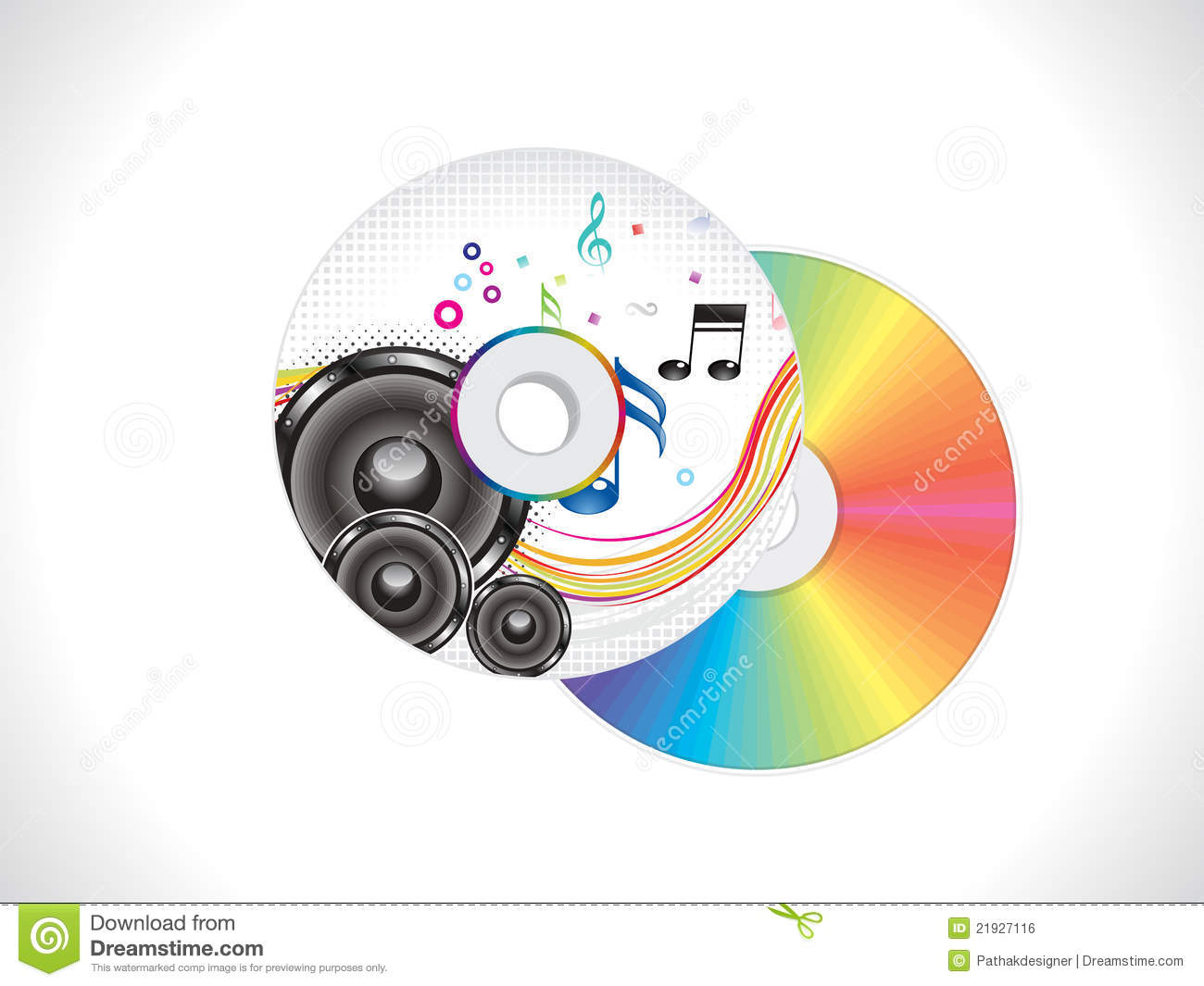 Abstract Colorful Musical Cd Cover Template Royalty Free