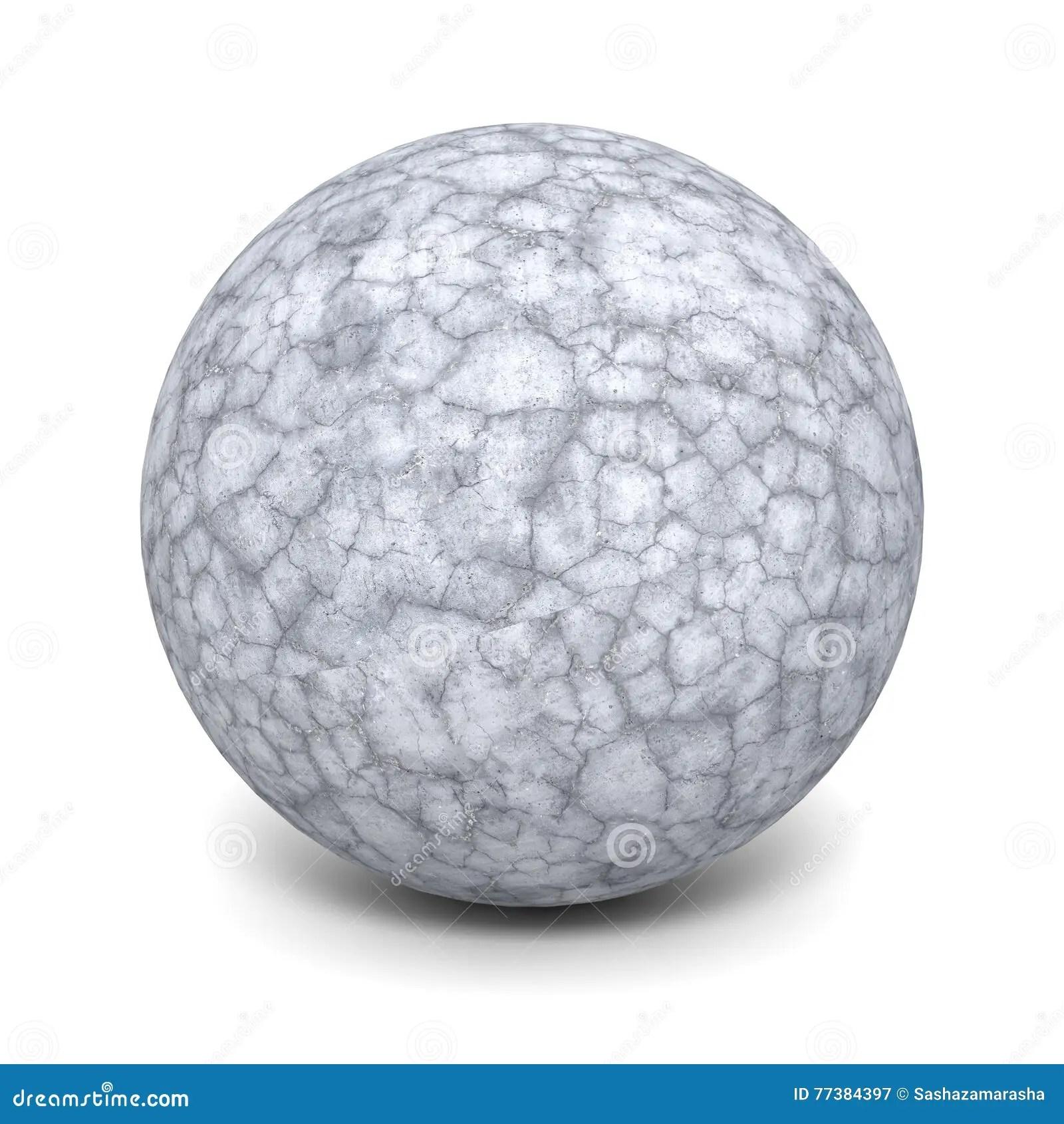 abstract concrete stone sphere