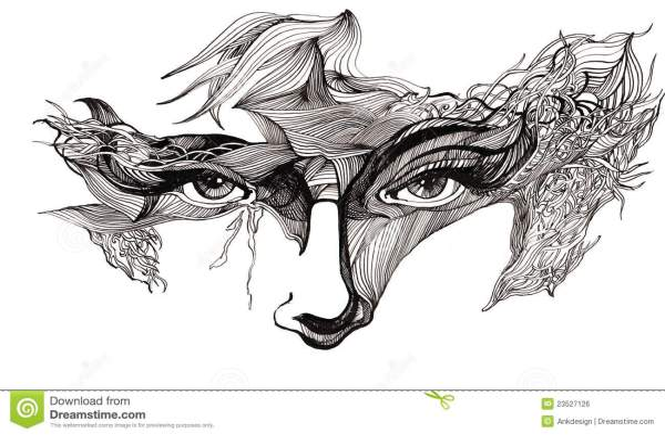 Abstract Art Human Face