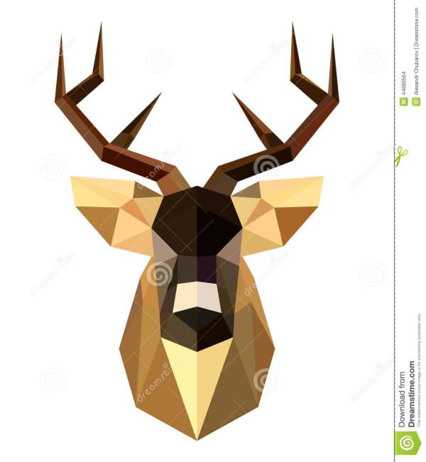 Abstract Deer Head