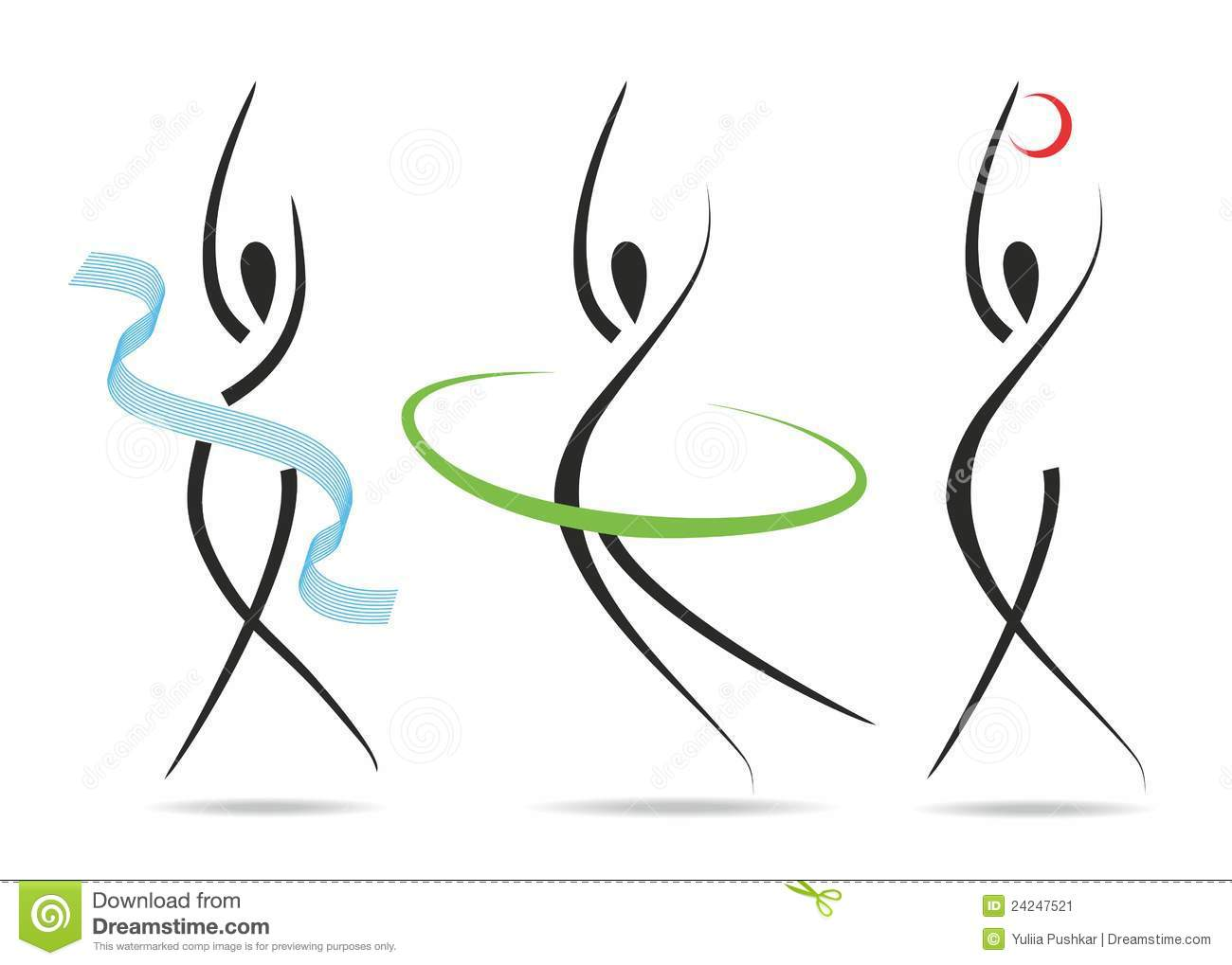 Abstract Fitness Silhouettes Stock Image