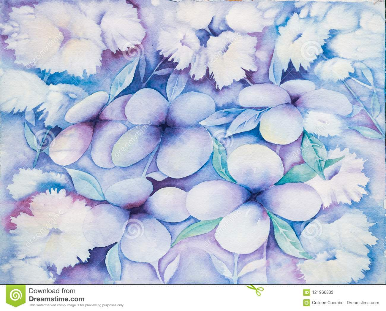 abstract floral background or