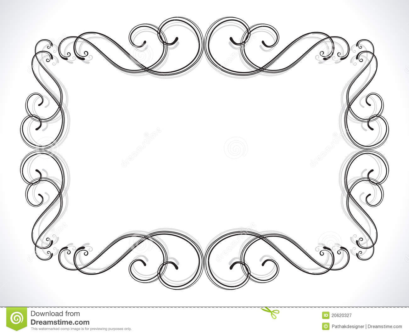 Abstract Floral Ornamental Border Stock Vector