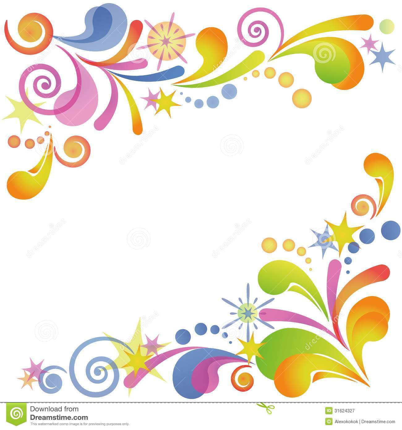 Abstract Flourish Colorful Background Stock Vector