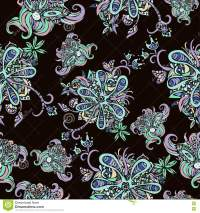 Abstract Flowers Seamless Pattern, Floral Background ...