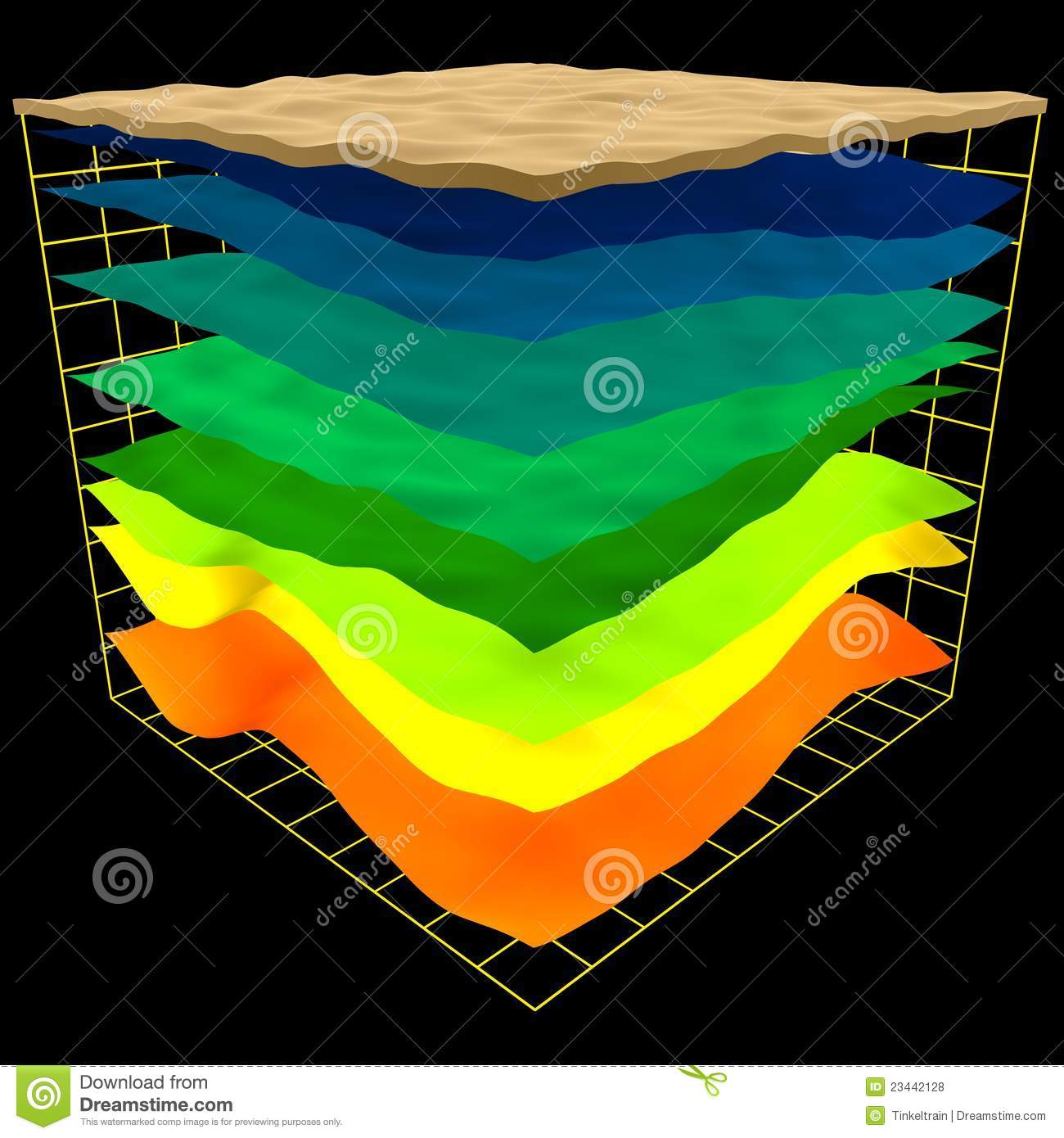 layers of the earth diagram diagramming sentences games abstract geology scheme royalty free stock photos - image: 23442128