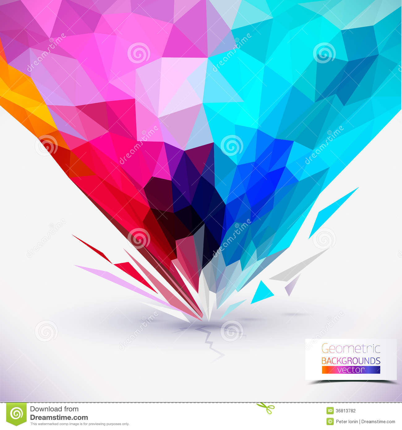 Abstract Geometric Colorful Composition. Stock Vector
