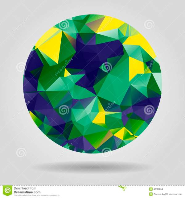 Abstract Geometric Colourful Spherical Shape