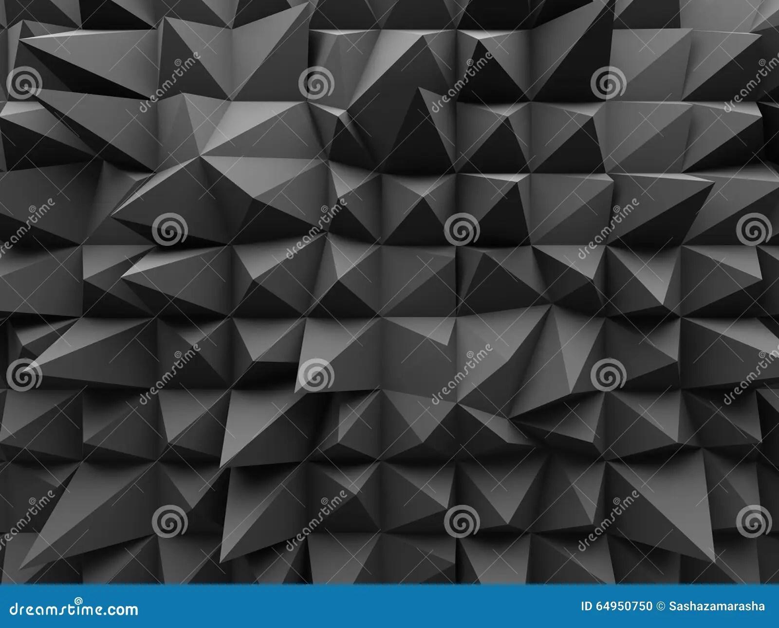 abstract geometric dark 3d