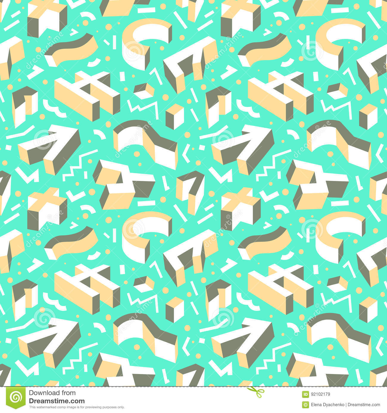 Abstract Geometric Seamless Pattern Background With Three