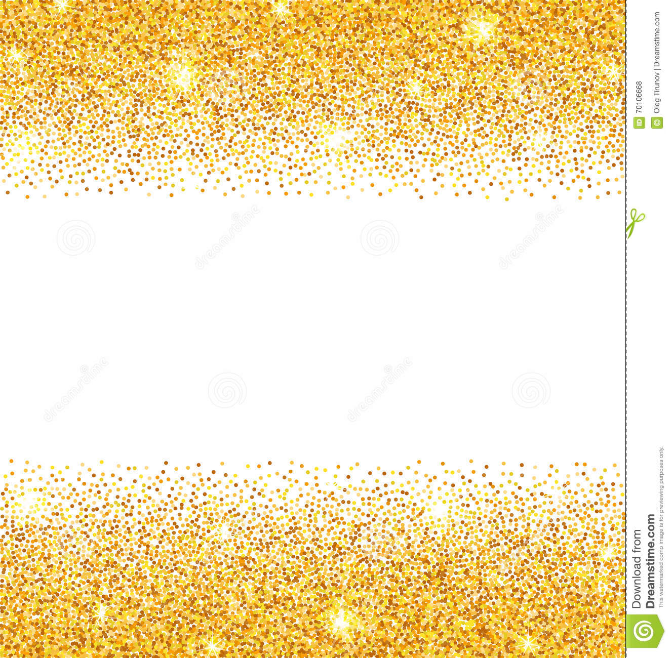 Abstract Golden Sparkles On White Background Gold Glitter Dust Stock Vector  Image 70106668