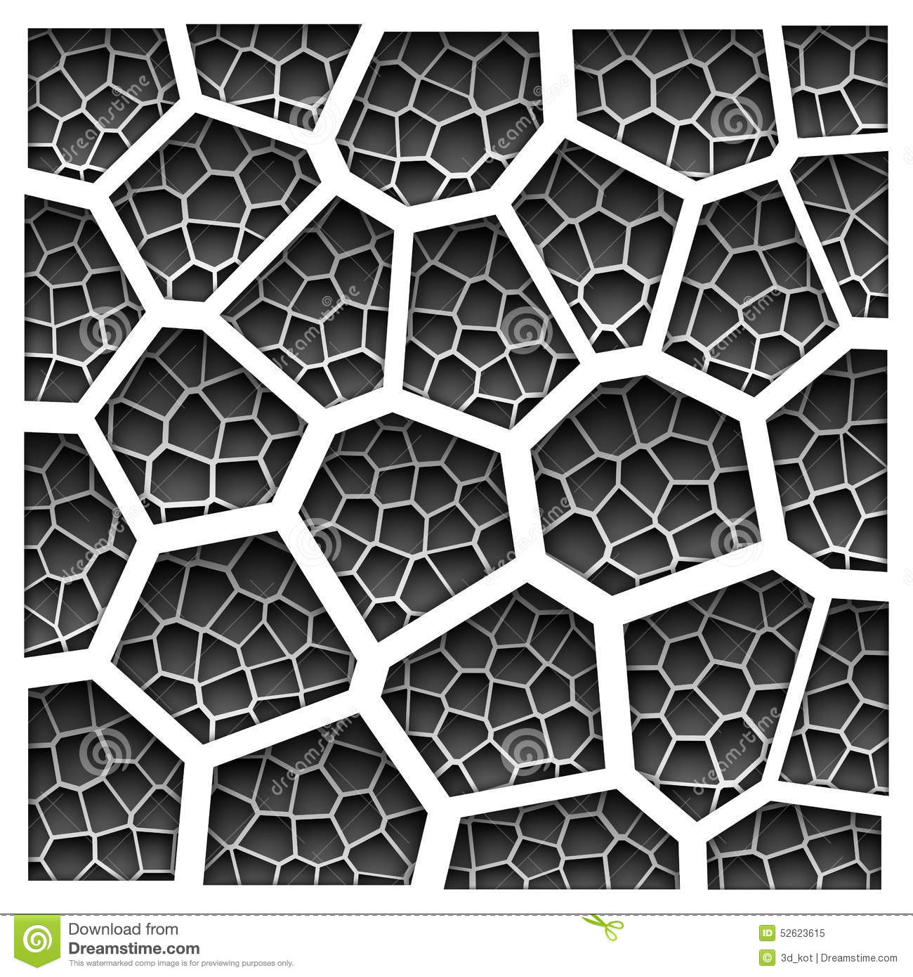 Hexagon Wallpaper 3d Abstract Grayscale Geometric Pattern Stock Vector Image