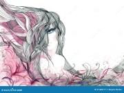 abstract hair stock illustration