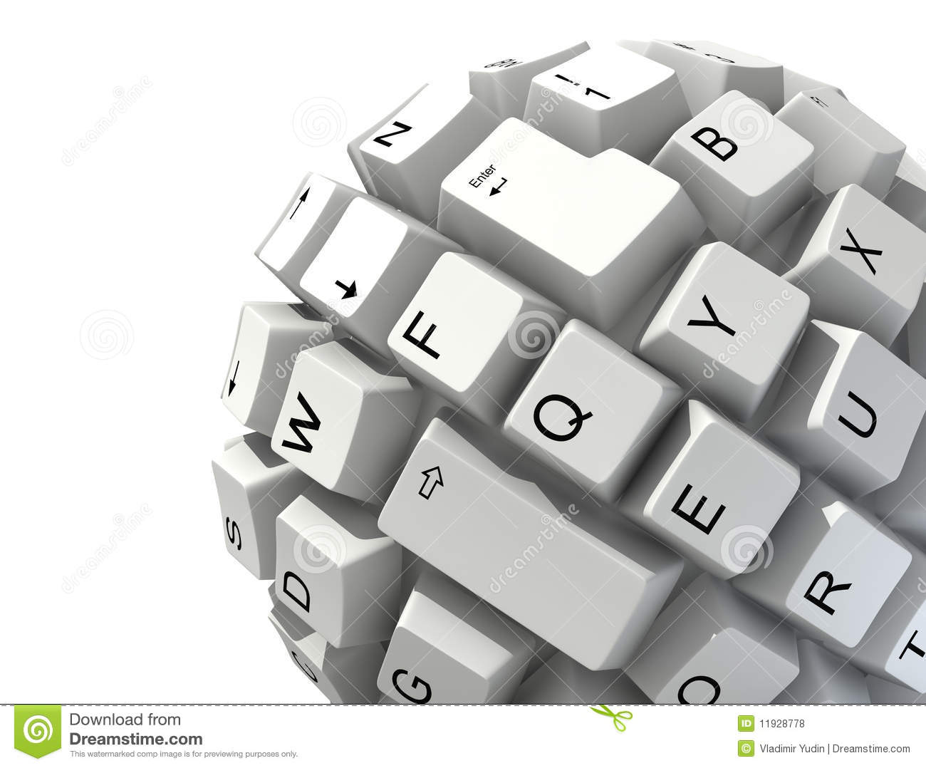 Abstract keyboard ball stock illustration Image of