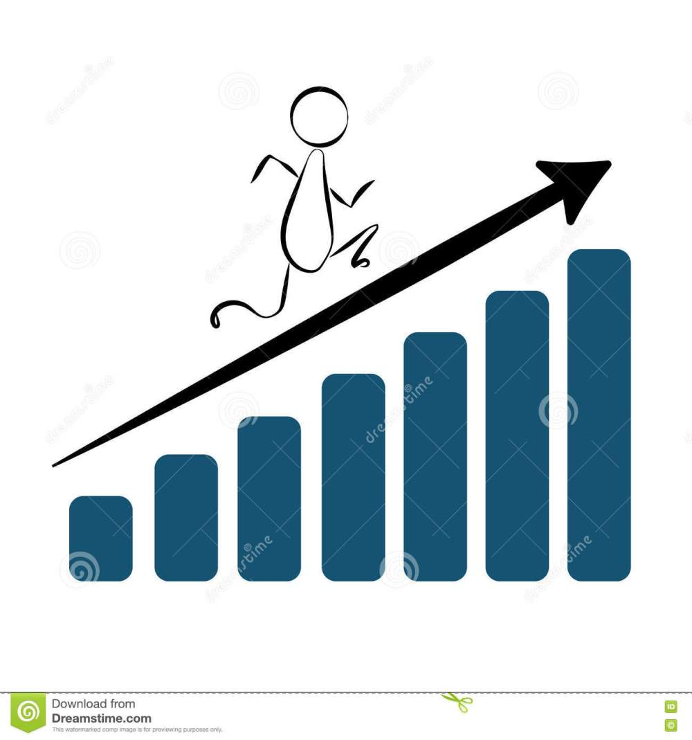 medium resolution of abstract man quickly moves on the growing diagram bars vector abstract man diagram