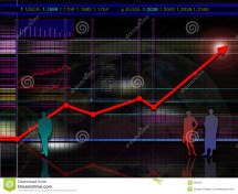 Abstract Modern And Futuristic Stock Market Chart