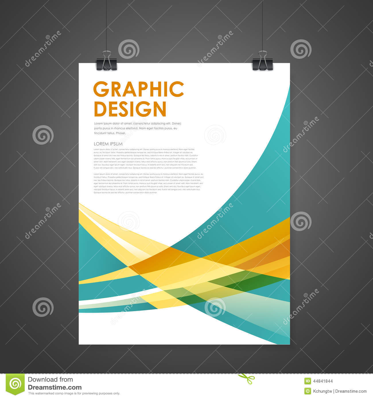 Abstract Modern Poster Template Stock Vector Image 44841844