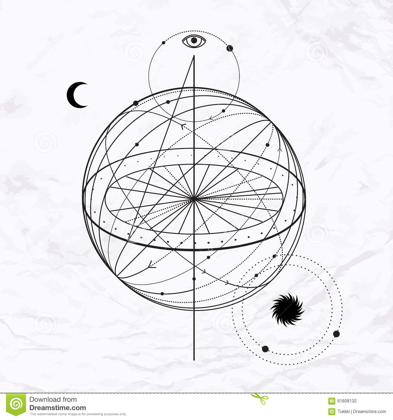 Abstract Occult And Mystic Sign Stock Vector