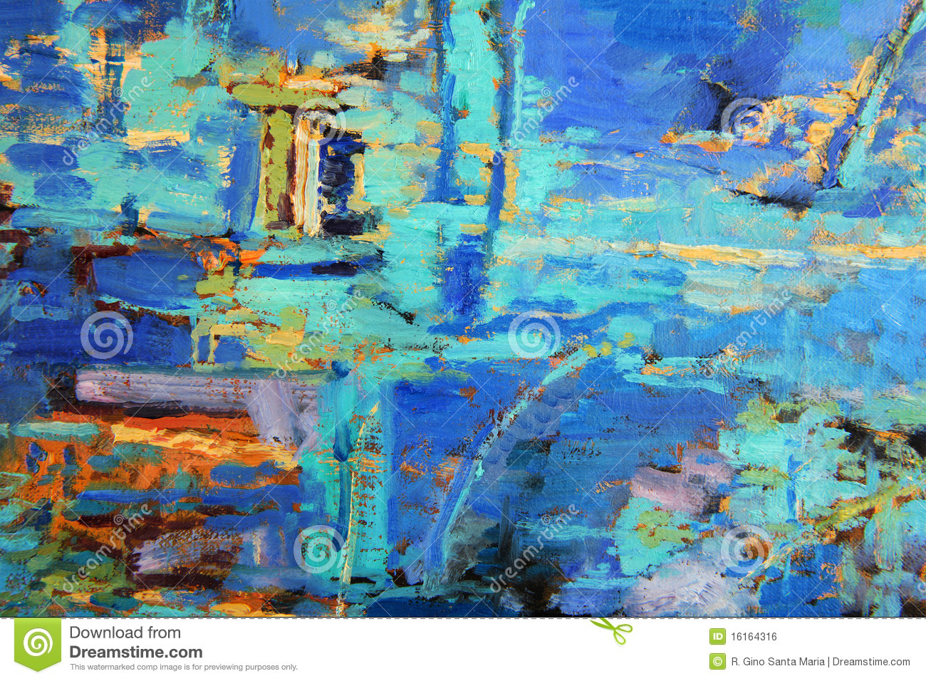 abstract oil painting stock