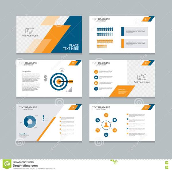 Abstract Page Layout Design Template Presentation