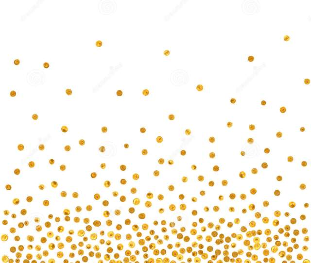 Abstract Pattern Of Random Falling Golden Dots