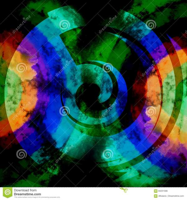 Dark Blue Psychedelic Abstract Backgrounds