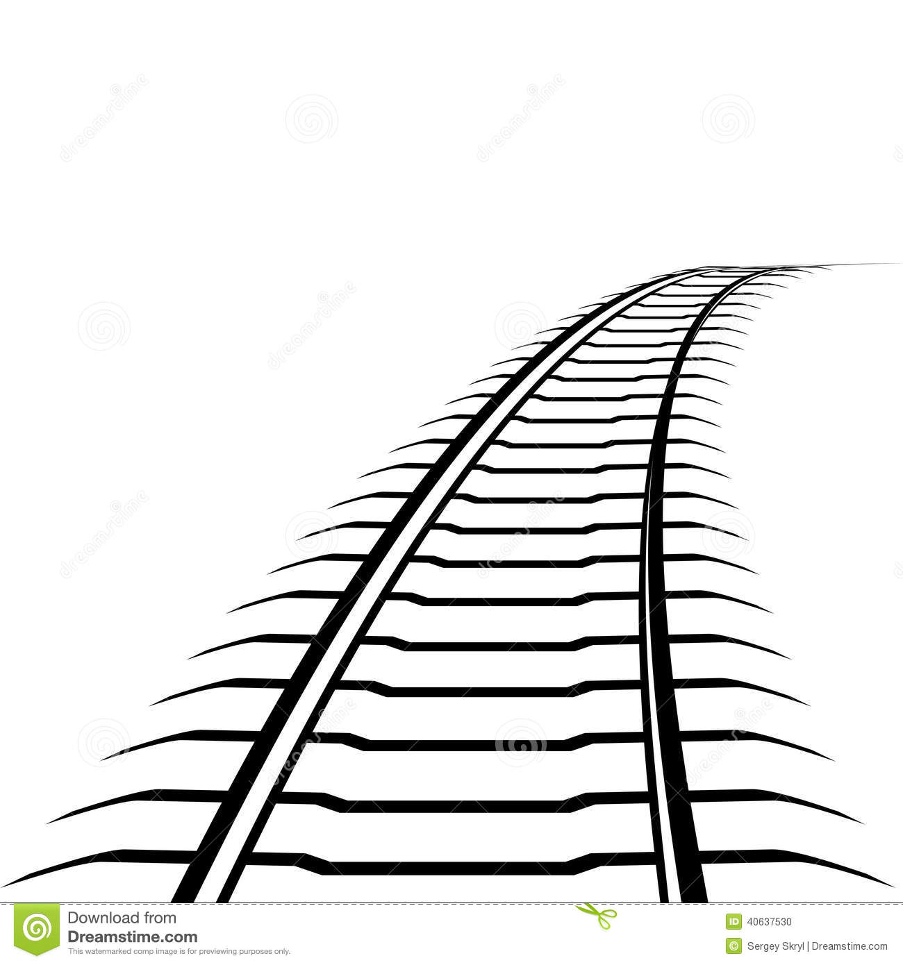 Abstract Railway Line Stock Vector Illustration Of Line