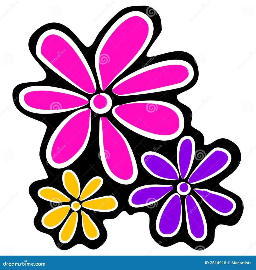 medium resolution of abstract retro flowers clipart