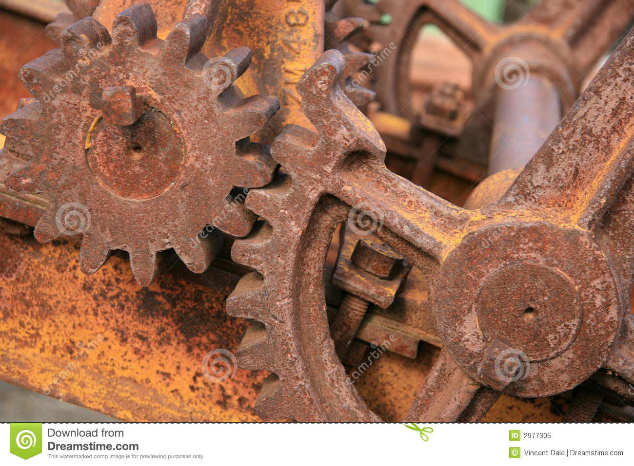 Abstract Rusted Gears Stock Image Image Of Device Rotate