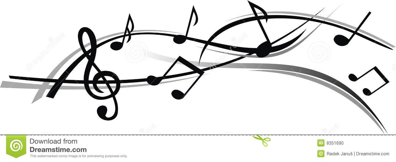 Abstract Sheet Of Music With White Background Stock Photo