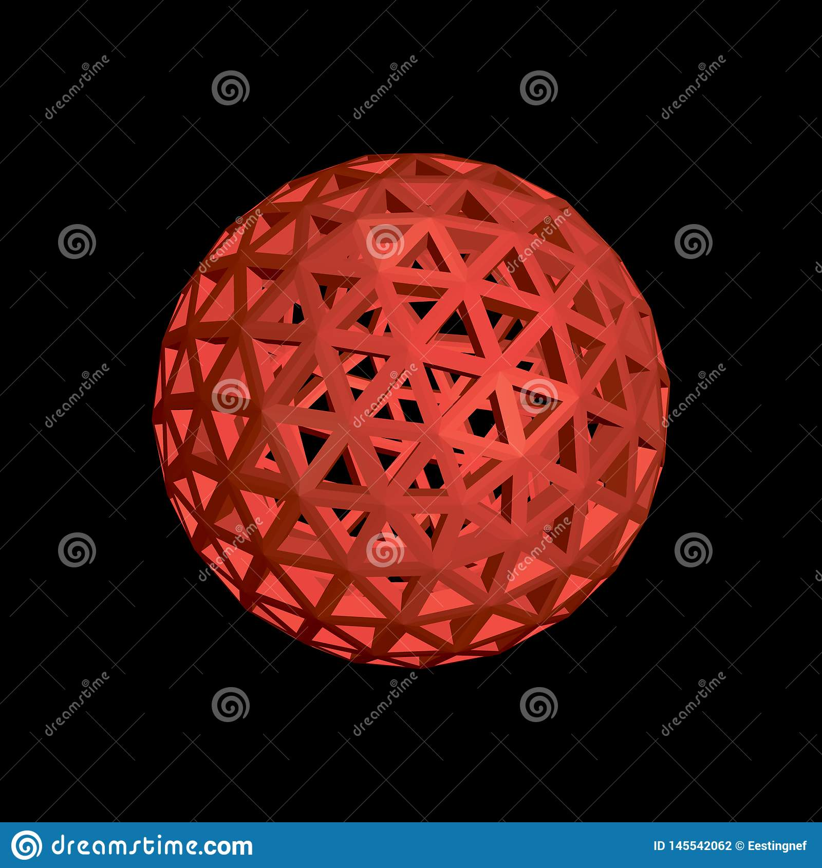 abstract sphere wireframe vector
