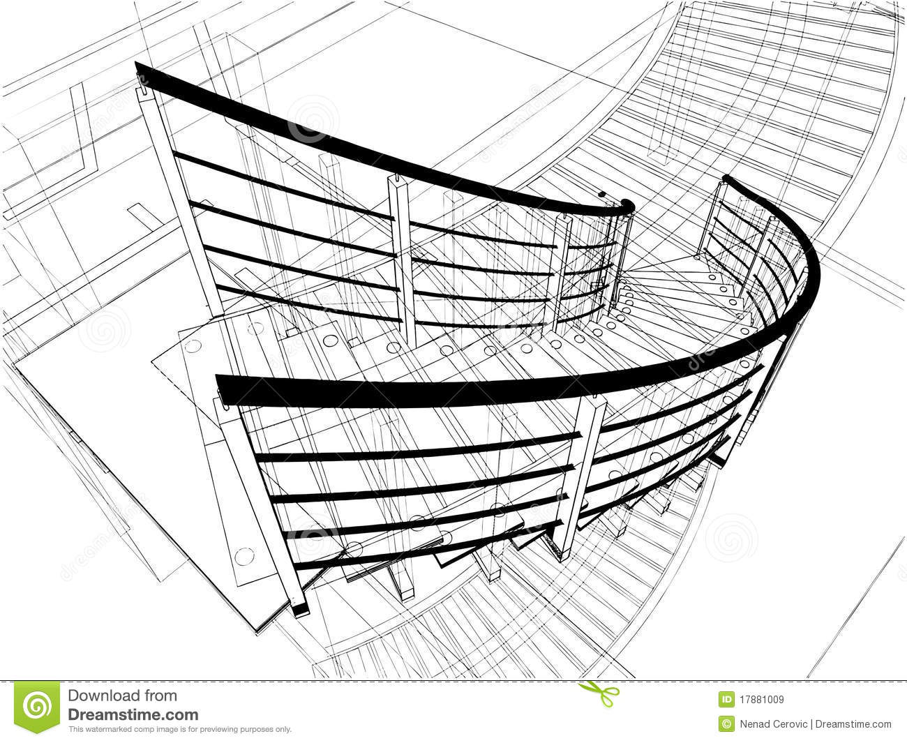 Abstract Spiral Staircases Constructions Of Line Royalty