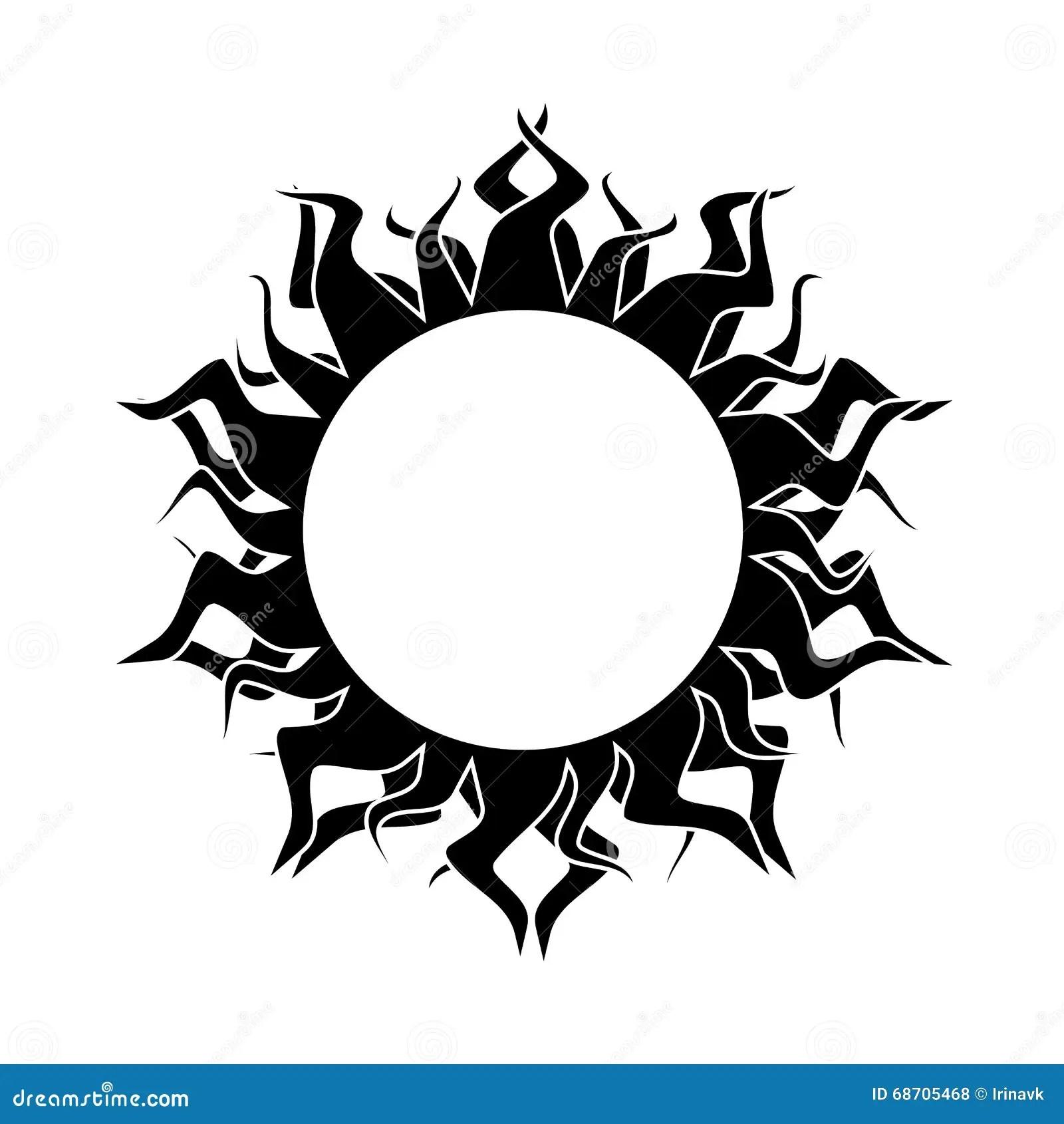 Abstract Sun Vector Stock Vector Illustration Of