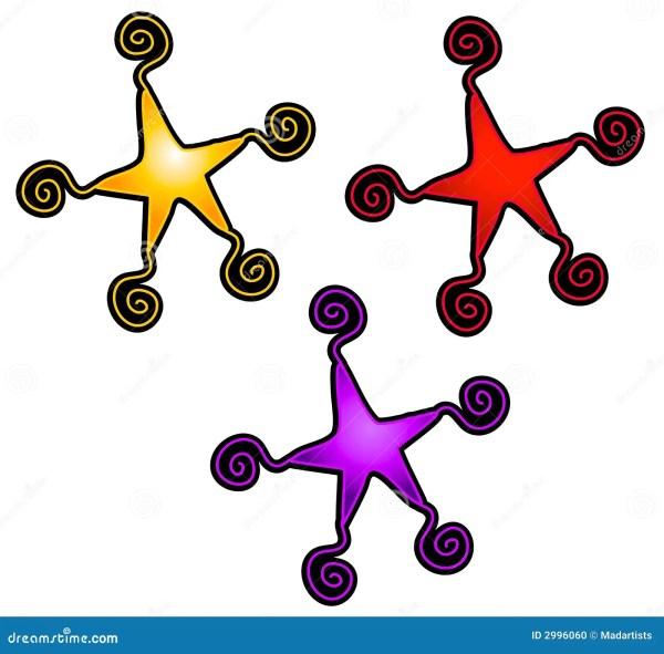 abstract swirly stars clip art