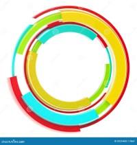 Abstract Techno Circular Frame Border Isolated Stock ...