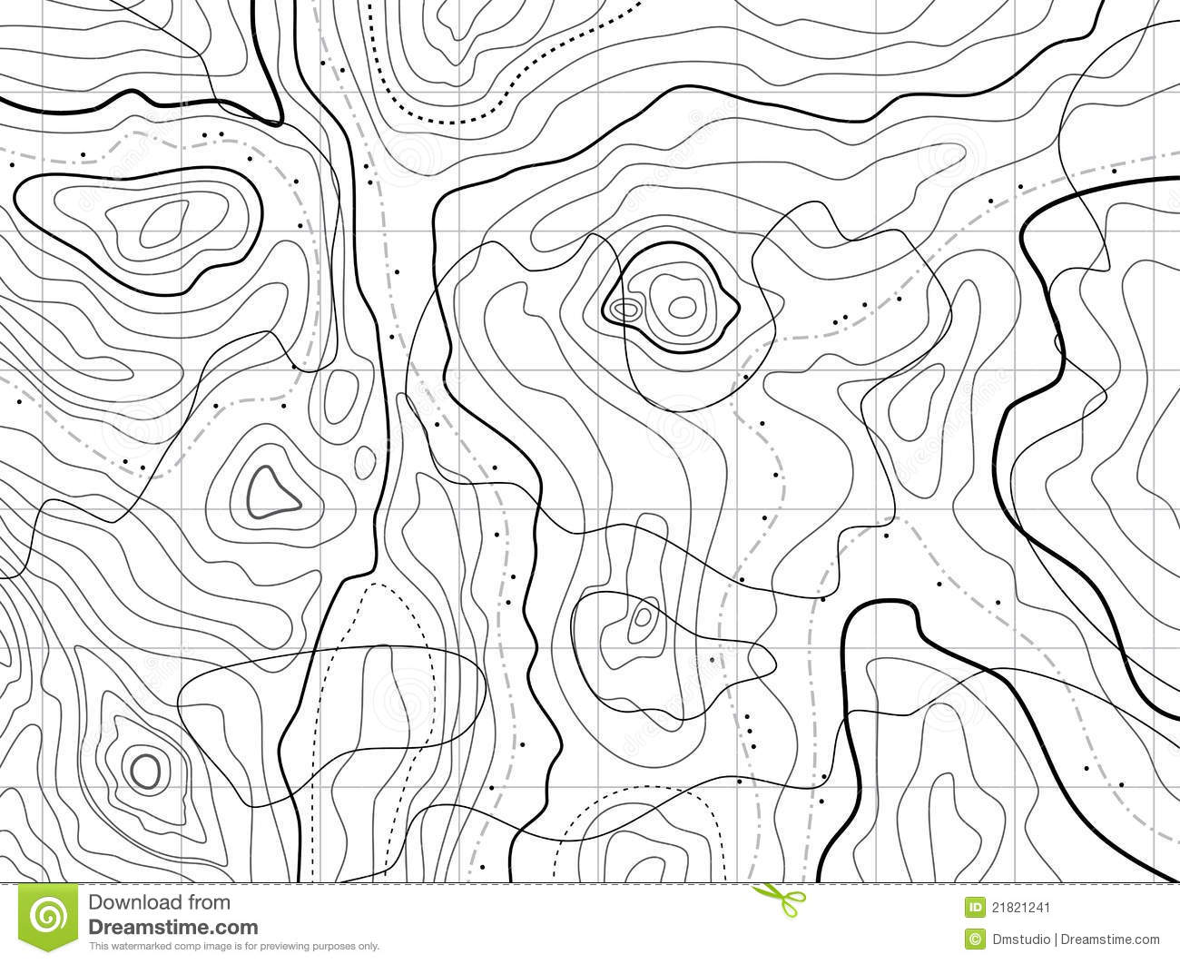 Abstract Topographical Map Stock Image
