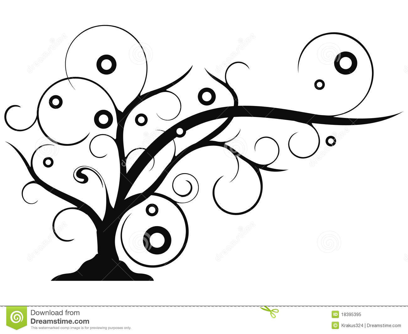 Abstract Tree Growing Clip Art Stock Vector
