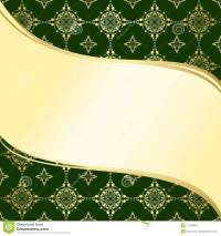 Abstract Wavy Green And Gold Vector Background Stock ...
