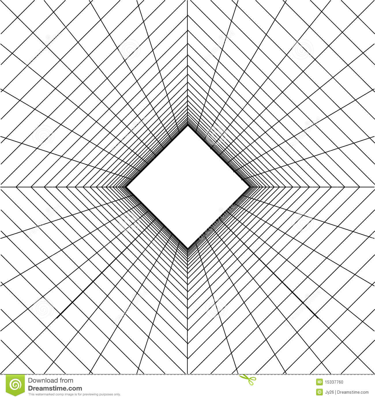 Abstract Wireframe Grid Background Stock Vector