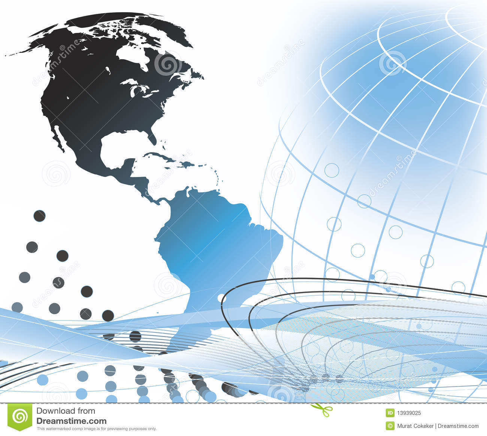 hight resolution of abstract world globe design